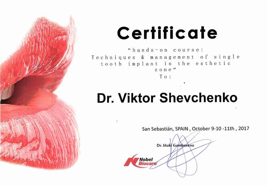 Сертификат Шевченко В.А.